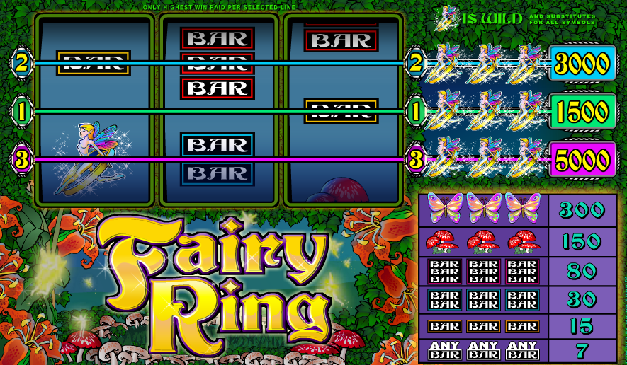 Play fairy ring and grab lot of real money  with or without download & get promotional bonus